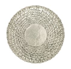Exclusive Metal Wall Round Shape Decor In Off White