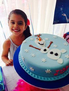 New ideas birthday cake fondant girl simple party ideas Torte Frozen, Bolo Frozen, Frozen Birthday Cake, Birthday Cake Girls, Birthday Ideas, Fourth Birthday, Birthday Cakes, Bolo Olaf, Fondant Girl