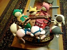 lalylala family made by Marlou M. / crochet patterns by lalyala