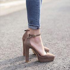 [Visit to Buy] Hot 2017 New Brand High Heels Sandals Summer Platform Sandals for Women Fashion Buckle Thick Heels Shoes Gladiator sandalias #Advertisement