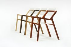 """Chair """"Blocco 55"""" - Chair made up with solid wood oak with plexiglass armrests and folding backrest. Perfect for interiors in minimalistic design. Comfortable, lightweight, functional, an original design, wood and plexi– a unique product by laquercia21 via en.dawanda.com"""