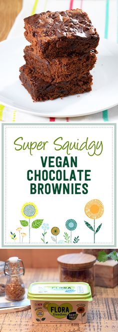 Soft, gooey, and completely vegan friendly, these chocolate brownies have no egg or dairy but are still as tasty as ever.