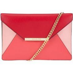 MICHAEL Michael Kors Lana Envelope Leather Clutch Bag