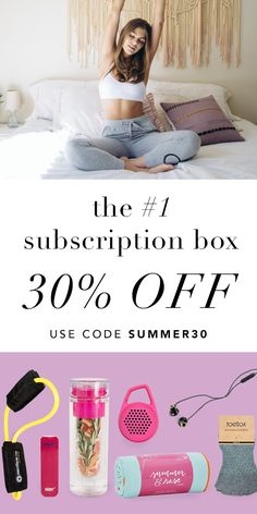 Break hearts, not the bank! Treat yourself to a box of full-size fitness, beauty, and fashion products worth over $200. Get 30% off today. Hurry, this sale won't last long! FREE shipping in the US.