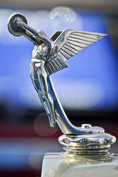 1928 Isotta Fraschini Tipo 8as Landaulet Hood Ornament Photograph