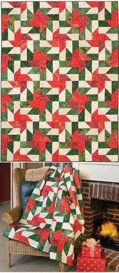 9 inch unfinished blocks, use 3 inch strips Christmas Quilting Projects, Christmas Sewing, Batik Quilts, Sampler Quilts, Watermelon Quilt, Handi Quilter, Keepsake Quilting, Pinwheel Quilt, Winter Quilts