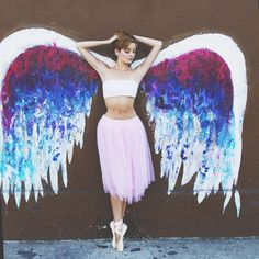 Ballet Zaida Affinity Nicole Voris with Colette Miller Wings. Ballet Kids, Ballet Art, City Ballet, Ballet Dancers, Colette Miller Wings, Angel Wings Art, Circus Decorations, School Murals, Ballet Photography