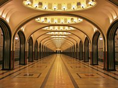 If you do not speak or understand Russian, the Moscow Metro can seem complicated to use. I will explain how to use Moscow Metro and what stations are worth a visit Culture Russe, Places Around The World, Around The Worlds, U Bahn Station, Moscow Metro, Architecture Life, Art Deco, Metro Station, Socialism