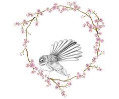 Pretty Drawings, Bird Drawings, Wall Art Designs, Bedroom Designs, Wall Design, Design Design, House Design, Vinyl Wall Decals, Wall Stickers