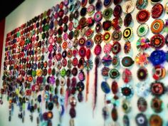Good idea for children - use old CDs as the base for weaving...