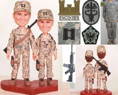 Army Ranger Topper  Personalised wedding cake by UniqueCakeToppers