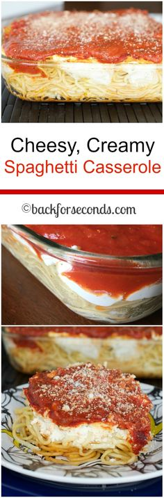 Easy Dinner Idea - Creamy Spaghetti Casserole!