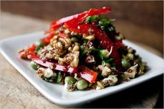 Quinoa, Lentil, Rocket and Pepper Salad