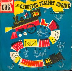 Retro children's record sleeve