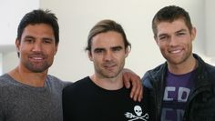 Photo of Spartacus Cast for fans of Dustin Clare. Manu,Dustin & Liam