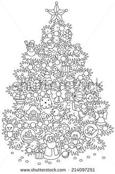 Weihnachtsbaum – Coloring Designs for Adults Group Board - Malvorlagen Mandala Christmas Coloring Pages, Coloring Book Pages, Printable Coloring Pages, Coloring Sheets, Christmas Activities, Christmas Printables, Christmas Colors, Christmas Art, Xmas