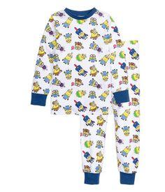 Jerseypyjama | Weiß/Minions | Kinder | H&M DE