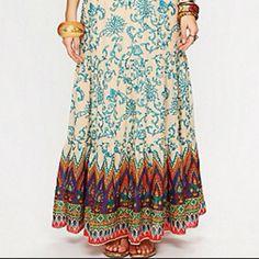 Free People Sunrise Printed Maxi Skirt freepeople.com