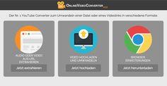 Download Videos von YouTube, Vimeo, Dailymotion. Wandel Videos direkt von Deinem Browser um, keine Softwareinstallation nötig. Einfach zu benutzen, schnell und komplett kostenlos!