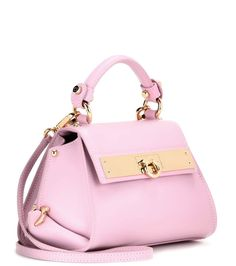Sofia Mini pink leather shoulder bag