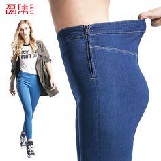 If You Don't Like Price Make an Offer @JeremiahImports.com  Leiji Fashion S 6...  http://www.jeremiahimports.com/products/leiji-fashion-s-6xl-blue-leggings-2016-summer-autumn-high-waist-elastic-plus-size-women-skinny-jeans-femme-capris-denim-pants?utm_campaign=social_autopilot&utm_source=pin&utm_medium=pin
