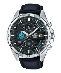 Casio Edifice EFR-556L-1AVUDF - For Men Price In Pakistan  PRODUCT DESCRIPTION   	Case / bezel material: Stainless steel  	Genuine Leather Band  	Mineral Glass  	Screw Lock Back  	100-meter water resistance  	1-second stopwatch Measuring capacity: 29'59 Measuring modes:  http://www.available.pk/