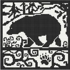 wolf knitting chart | WitchWolfWeb Creations: Spirit Bear Chart | crochet