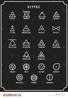 Glyphs, Symbols, sygil, spiritual signs