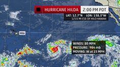 Hilda Becomes Sixth Hurricane of the Eastern Pacific Season August 7, 2015