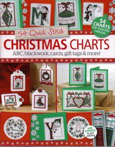 54 Quick Stitch Christmas Charts for Christmas Cars & Gift Tags Cross Stitch Magazines, Cross Stitch Books, Cross Stitch Cards, Cross Stitch Kits, Cross Stitching, Cross Stitch Embroidery, Cross Stitch Patterns, Embroidery Patterns, Cross Stitch Christmas Cards