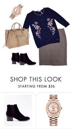 """Spring"" by etonenormalno on Polyvore featuring мода, New Look, Rolex и Balenciaga"