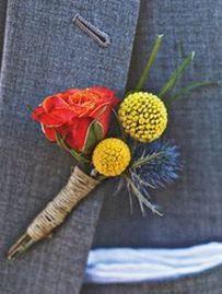 Groom's Boutonniere, wildflowers