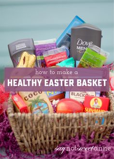 Excellent easter basket ideas for kids teenagers and adults healthier easter basket alternatives and printable cards negle Gallery