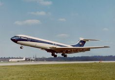 BOAC Vickers Super VC10 (Series 1150) G-ASGW (c/n: 872) departing London's Heathrow Airport, sometime after 1966.