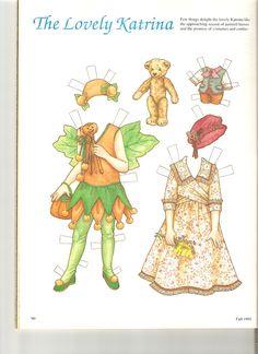 KATRINA ~ Her favorite part of autumn is Halloween ~ Artist Theresa Boreli for Martha Pullen Company 2 of 2