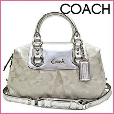 "RARE ~ Pre-Loved ~ Immaculate ~ Coach™ ""Limited Edition"" Ashley Metallic Satchel. Starting at $165"
