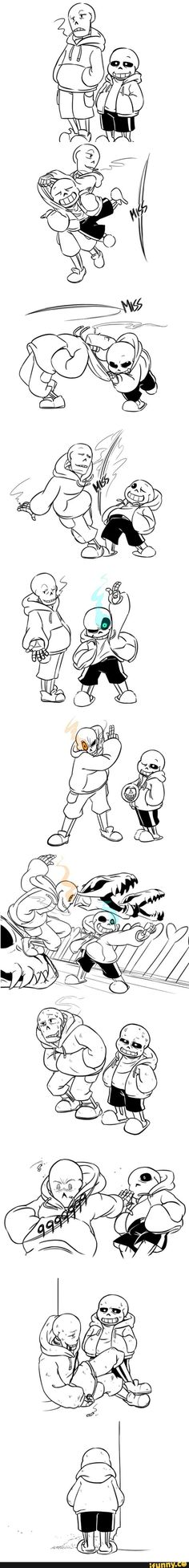 Undertale Sans and Underswap!Paps final fighting. OHKAY, NOPE THAT ENDING. NOPETY NOPETY NOPE.