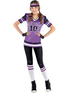 teen girls all star cutie football costume party city like if u want me to - All Halloween Costumes Party City
