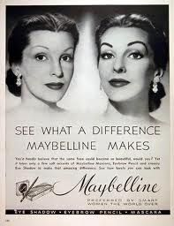 before and after maybelline advertisement
