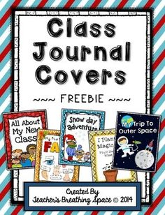 Whole Class Writing Journal Covers --- Writing Through The