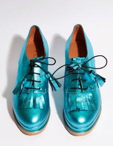 Blue tassel flatform shoes