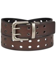 Levi's Reversible Perforated Belt, Boys - Brown/Black XL