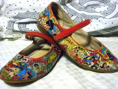decoupaged shoes - renew your scuffed up kicks - by funny face on craftster