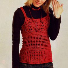 Crochet top PATTERN, sexy crochet top pattern, crochet warm tunic pattern, crochet tank top pattern, detailed instructions in ENGLISH.