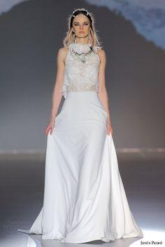 jesus peiro 2016 nanda devi bridal chakor bird two piece wedding dress chantilly crop top crepe skirt