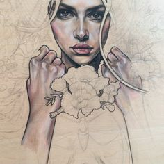 wendy ortiz ... love this talented artist's process/style.