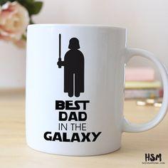 Meilleur papa dans la galaxie, Best Dad Ever, Geek Dad, 15 oz tasse à café, tasse de fête des pères, meilleur papa cite Mug