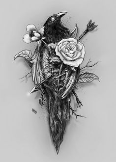 Most tattoo artists have several designs that you can pick from. Neck Tattoos, Cover Up Tattoos, Cute Tattoos, Flower Tattoos, Body Art Tattoos, Sleeve Tattoos, Tattoos For Guys, Raven Tattoo, Dark Tattoo