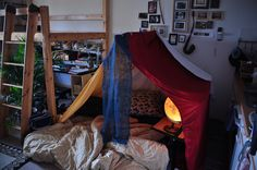 Pillows, blankets, sticks and snow all make great fort building materials. Here's 50 fun examples of kids forts you can build. Fun Activities For Kids, Crafts For Kids, Boy Room, Kids Room, Cool Kids, Kids Fun, Globe Lamps, Pillow Forts, Pillows