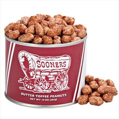 OU Sooners Butter Toffee Peanuts
